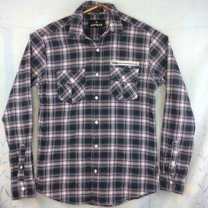 Airwalk Men's Casual Button Up Shirt Long Sleeve